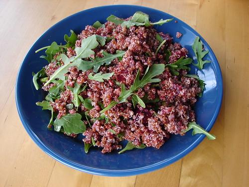Quinoa, Beet, & Arugula Salad