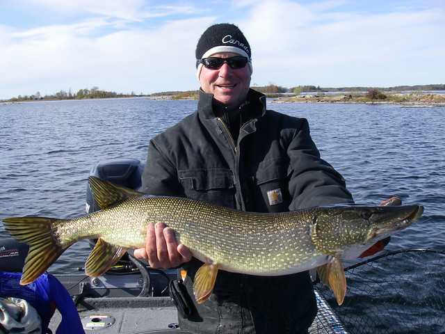 Chris with a nice pike
