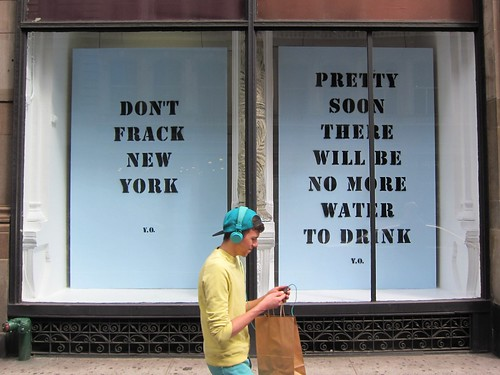 Yoko One: Don't Frack New York, at ABC Carpet