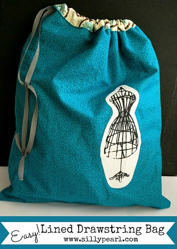 Easy Lined Drawstring Bag - The Silly Pearl