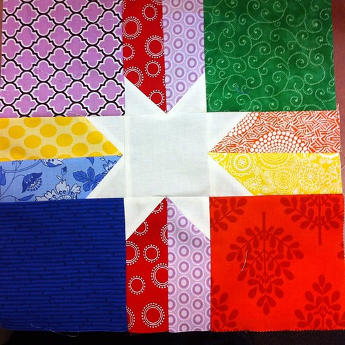 Rainbow star for @valbetweenquilts