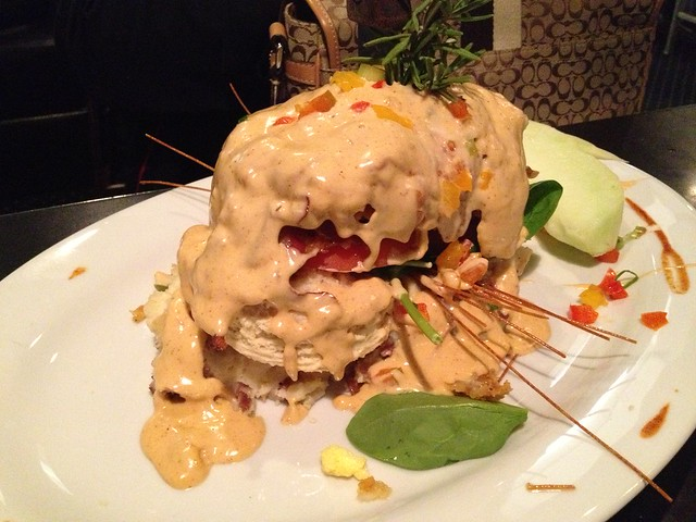 Andy's sage fried chicken benedict - Hash House A Go Go
