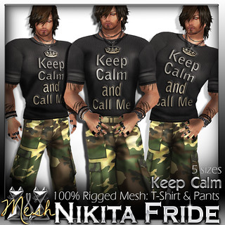 Keep Calm and Call me - Male Outfit 100% Rigged Mesh