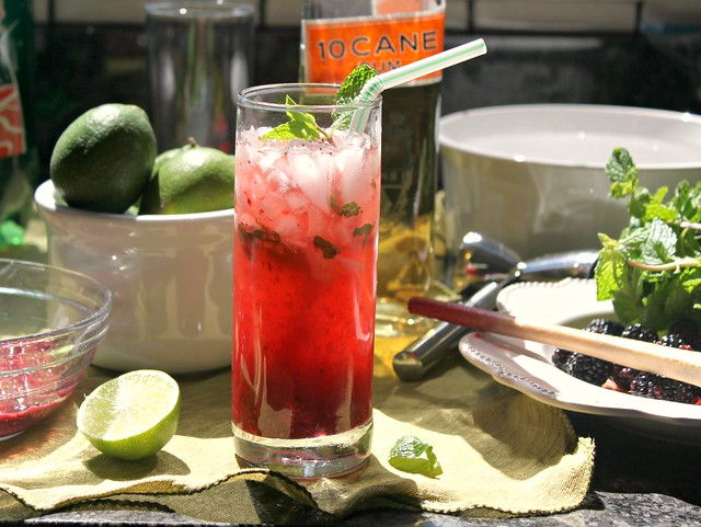 Sparkling berry mojito recipe