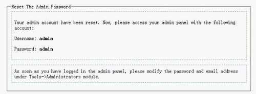 How To Reset The Admin Password 1