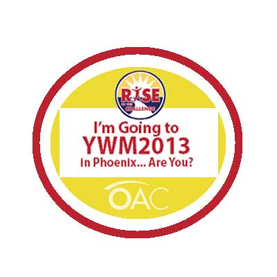 YWM2013 Convention badge