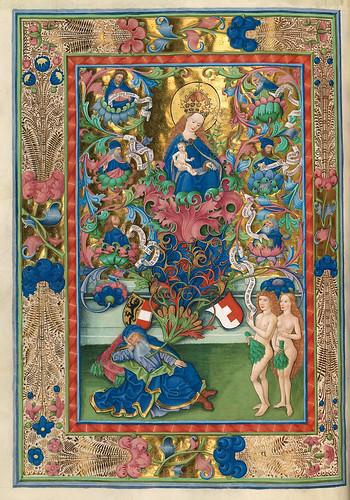 014-Adan y Eva-Misal de Salzburgo-1499-Tomo 4-Biblioteca Estatal de Baviera (BSB)