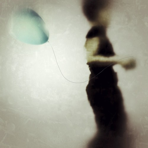 The Girl and the Balloon (iPhoneography).