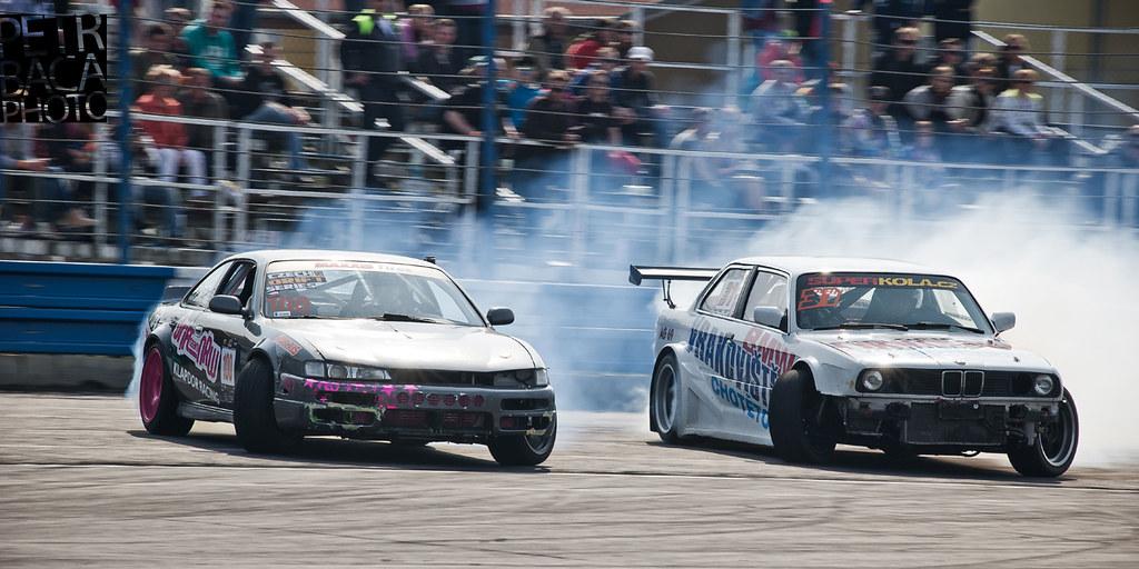 Czech Drift Series, Sosnová 2013, BMW E30, Tomáš Kodera, Nissan 200SX S14, Florian Oberwahrenbrock