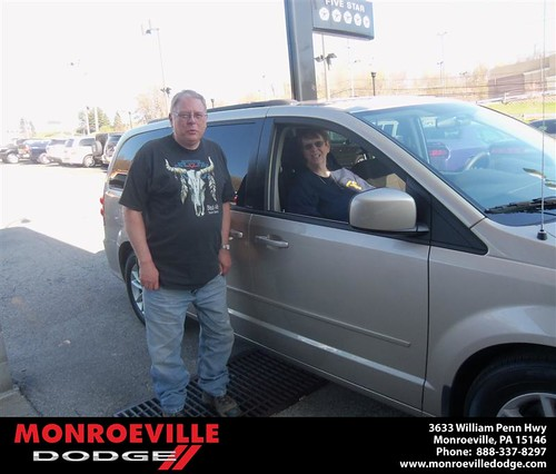 Monroeville Dodge would like to say Congratulations to William Heller Sr. on the 2013 Dodge Caravan by Monroeville Dodge
