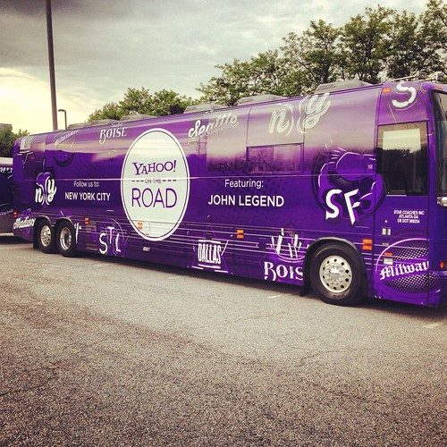 Who has seen the #yontheroad bus so far? It's outside the Best Buy Theatre right now in NYC!