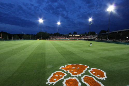 sky field grass night clouds lights paw university photographer baseball stadium doug tiger tigers clemson kingsmore sethberryphotography