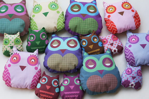 Soft fabric owls