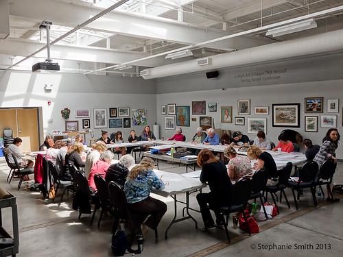 Mandala: An Artful Meditation workshop participants at The Banana Factory in Bethlehem, PA