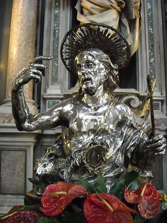 """Silver statue of Saint John the Baptist"" by Lorenzo Vaccaro (1695) - Treasure of Saint January Chapel in Naples"