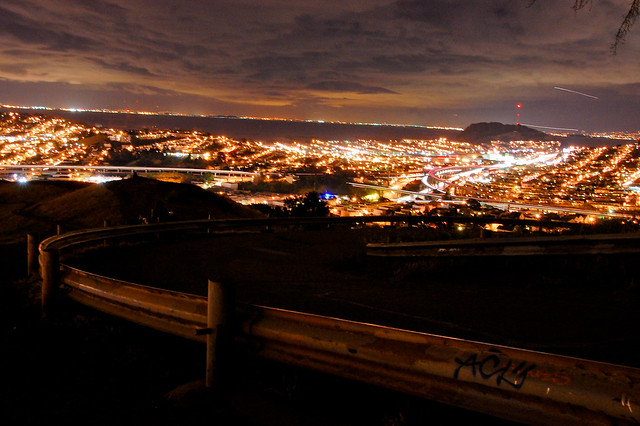 Bernal Hill by Night
