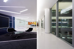 Cladding colours in reception area