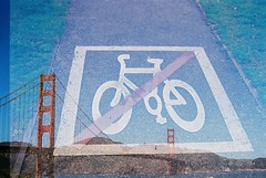 No bikes on the bridge.