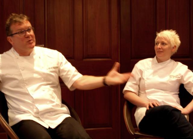 Chef Nigel Haworth at the Fantastic Food Show - having a chat