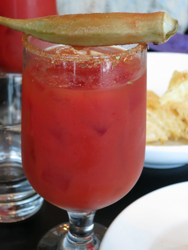 Bloody Mary with Pickled Okra