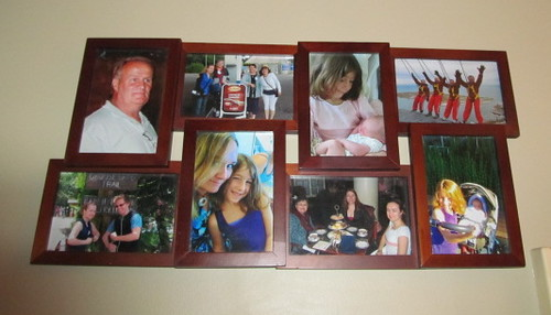 8 pictures in an 8-picture frame.
