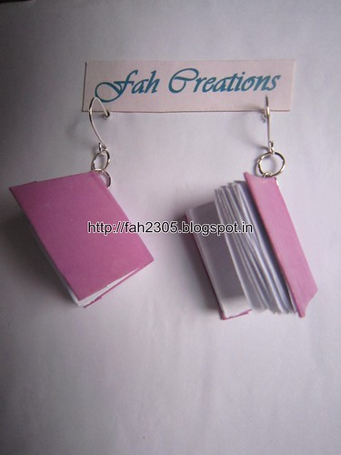 Handmade Jewelry - Paper Book Earrings (5) by fah2305