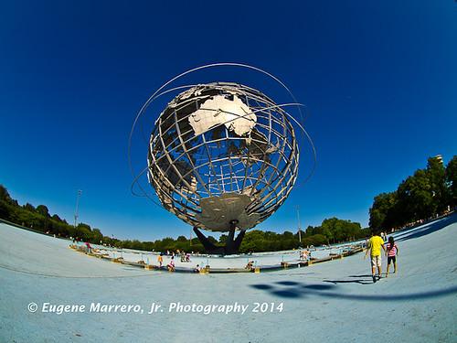 newyorkcity newyork queens worldsfair unisphere robertmoses flushingmeadowpark olympuse5 olympuszuiko8mmf35fisheye olympuszuiko8mmf35