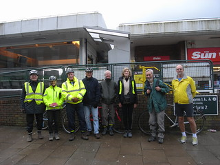 The start at Polegate station, minus Rob and Anne (Fred took the picture)