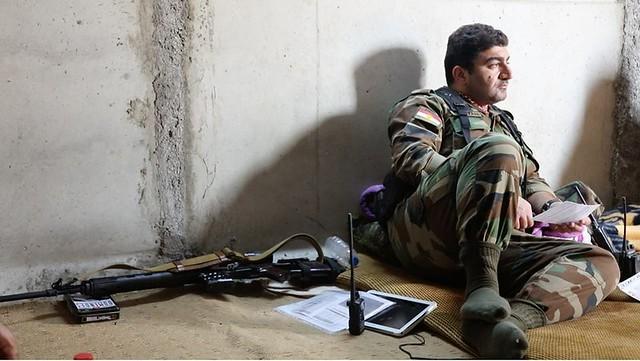 Kurdish Peshmarga at the war against ISIS
