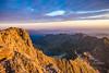 Le sommet du Valier au petit jour
