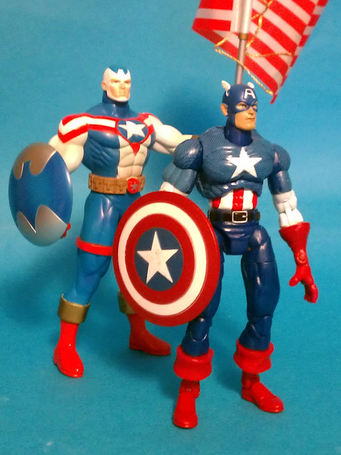 Fighting American and Marvel Legends Captain America