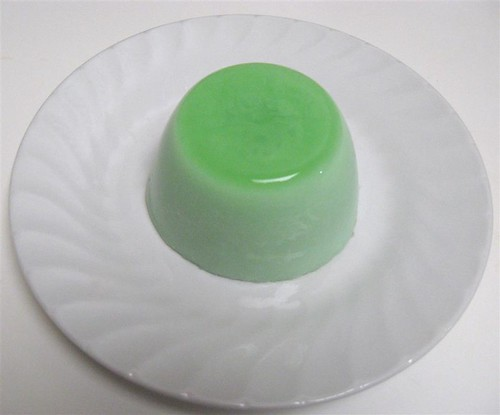 Pandan coconut milk jelly