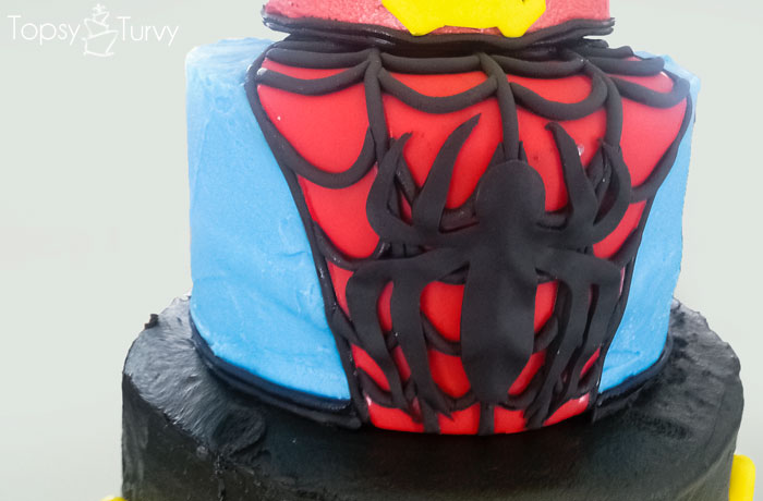 super-hero-buttercream-cake-fondant-spiderman