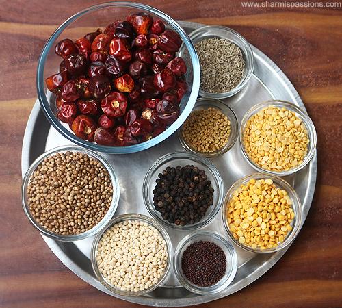Homemade Sambar Podi