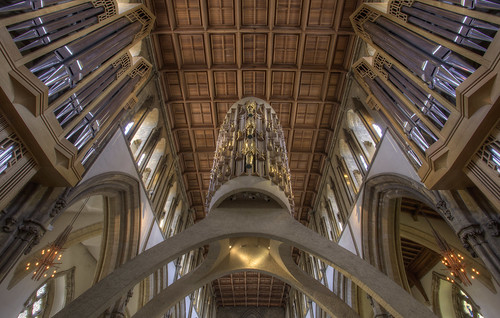 uk colour building southwales wales canon religious cathedral decorative interior religion cardiff chapel ceiling glamorgan shape hdr highdynamicrange llandaf cylindrical churchinwales religiousbuilding llandafcathedral timknifton timster1973 eglwysgadeririolllandaf