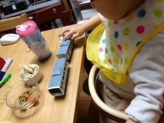 食事と電車ととらちゃん 2013/4/5