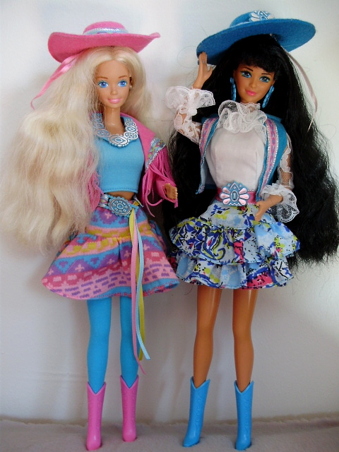 Western Fun Barbie & Nia 1989
