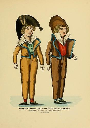 022-Muñecas vestidas segun la moda revolucionaria-Epoca Imperio-Histoire des jouets….1902- Henry René d' Allemagne