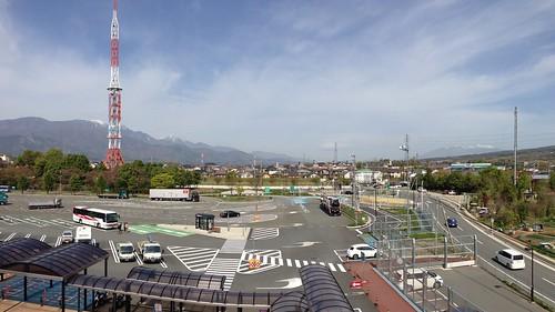 中央道 双葉SA(下り)展望台からの眺め