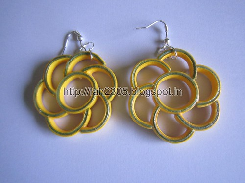 Handmade Jewelry - Paper Quilling Flower Earrings (Free Form Quilling) (1) by fah2305