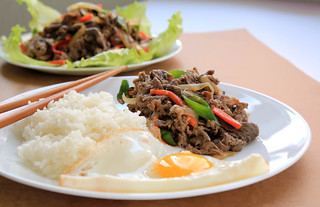 Korean marinated beef [Bulgogi]