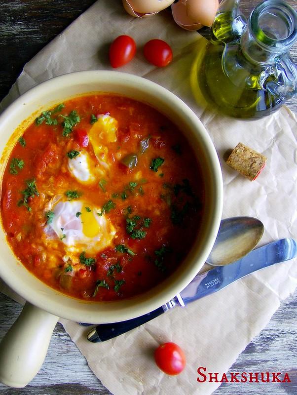 Sakshuka/Guiso de pimientos morrones y tomates