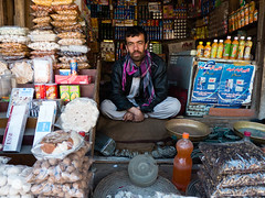 Shopkeeper in Jabal-os Saraj
