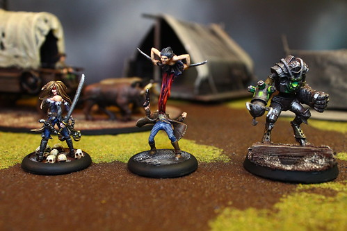 Arcanist Miniatures from the Malifaux War Game