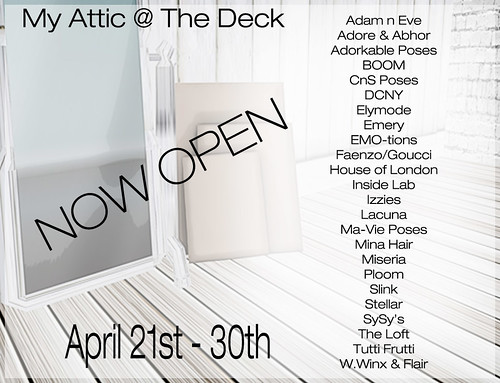 My Attic @ The Deck - April Edition NOW OPEN