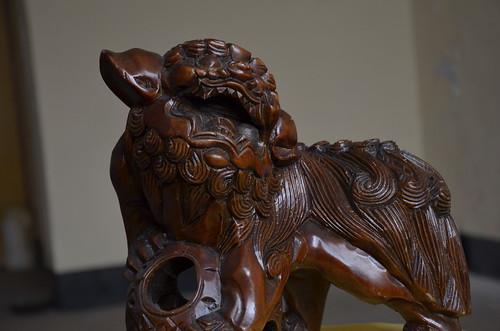 20130408古物木雕獅_02
