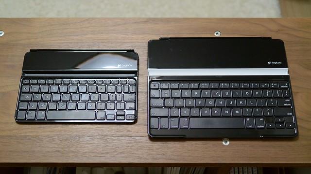 オリジナルUltrathin Keyboardとの比較
