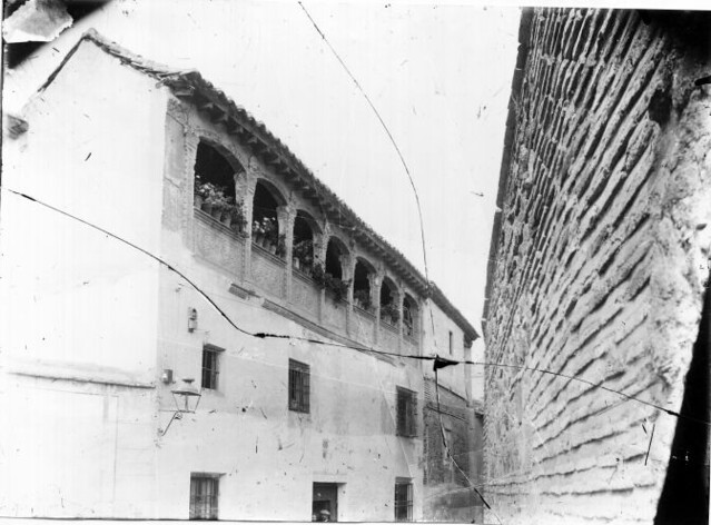 Casa de la familia Arcos en la Calle San Lorenzo © Fondo Rodríguez. Archivo Histórico Provincial. JCCM. Signatura Album4-1267