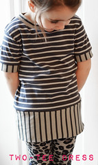 diy two t-shirt in one dress