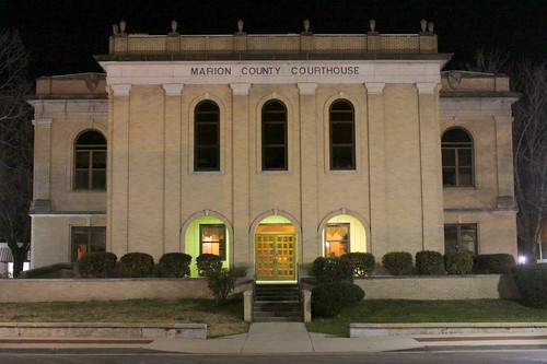 Marion County Courthouse at Night - Jasper, TN